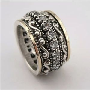 Men's Diamond and Stainless Steel Ring NWT